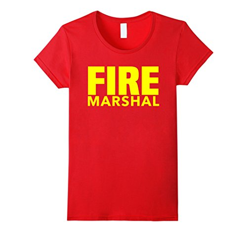 Womens Fire Marshal Department T-Shirt for Firefighters F...