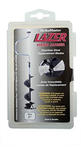 Replacement Blades - Stainless Steel - For Lazer Hand Auger (Black Shaft) - 7