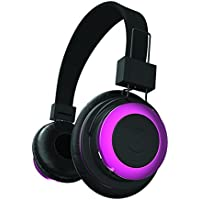 Tzumi  Bluetooth  Stereo Foldable Rechargeable Wireless Headphones with Powerful Bass - Built in High Definition Microphone and Remote Music Control Pink