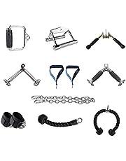 LHXDZC Kabelmachine bijlagen, Triceps touw, V-Bar, Draaibare Bar, Home Gym Fitness, Pull Down Touw, Enkelriem, Beugelgreep, Pressdown, voor Gym of Thuis