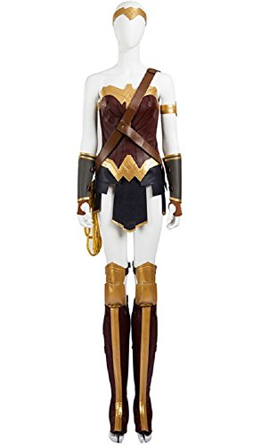 Diana Costume for Women, Deluxe Halloween Female Warrior Cosplay Outfit Full Set (X-Small)