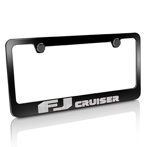 Toyota FJ Cruiser Black Metal License Plate Frame