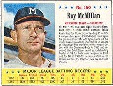 1963 Jello Regular (Baseball) card#150 Roy McMillan of the Milwaukee Braves Grade Very Good