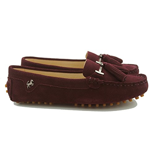 Minitoo Girls Womens Fashion Slip On Tassel Suede Leather Loafers Boat Shoes Flats Moccasins Suede-Purplish Red kqF0SYdf