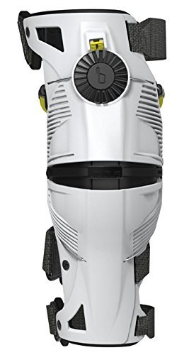 Mobius X8 Knee Braces-White/Acid Yellow-M by Mobius Products