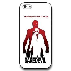 UniqueBox Customized Marvel Series Case for iPhone 5C, Marvel Comic Hero Daredevil iPhone 5c Case, Only Fit for Apple iPhone 5C (Black Hard Case)