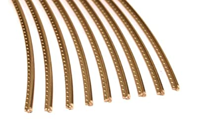 Guitar Fret Wire - Jescar WIDE-MEDIUM (47104) Gold EVO - Six Feet