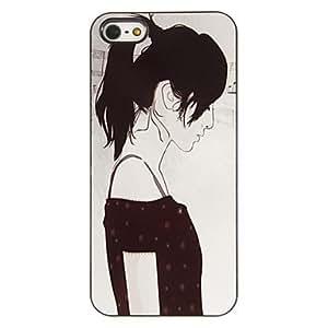 """GONGXI-Chicas simples """"Sketch PC caso duro del patrón con 3 Almuerzos Protectores HD de pantalla para iPhone 5/5S"""