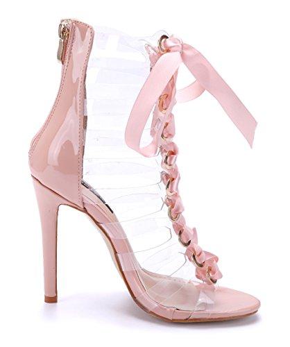 0afb17d159647e Damen Schuhe Sandaletten Sandalen Rosa Stiletto 11 cm High Heels  Schuhtempel24