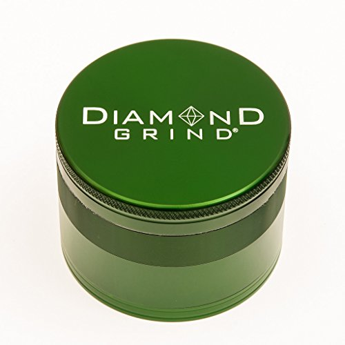 Diamond Grind 4 Piece Aluminum Herb Grinder with screen 50mm (2.00