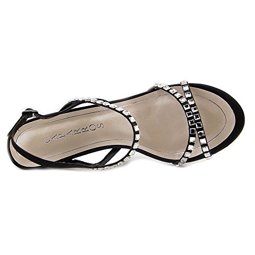 Caparros Christine Open Teen Canvas Slingback Hak Zwart