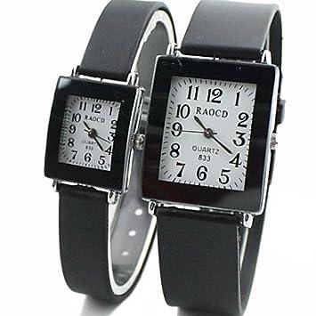 Bella, relojes de hombre/de mujer/de pareja reloj elegante cuarzo goma banda negro Marca-, negro, mujer: Amazon.es: Deportes y aire libre