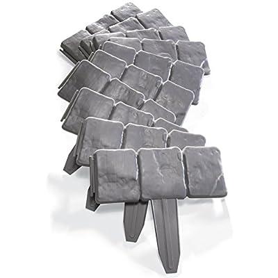 Interlocking Faux Stone Border - Set of 10