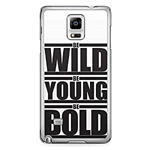 Wild Young Bold Samsung Note 4 Transparent Edge Case