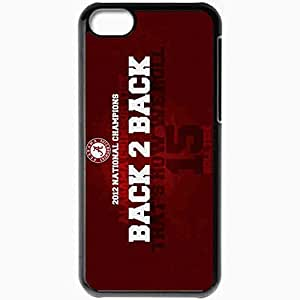 Personalized iPhone 5C Cell phone Case/Cover Skin 15160 alabama crimson tide back 2 back by owenb23 d5s6nlf Black