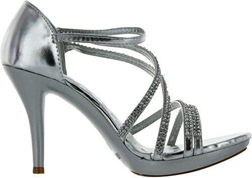 Womens Delicacy 28 Essential Shoes Delicacy Womens Pumps Silver 5 Dress OHqwfOvE