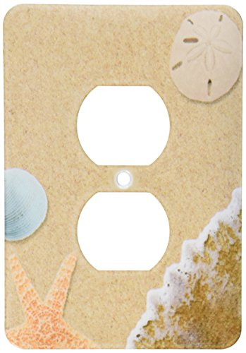 (3dRose lsp_172139_6 Sandy Beach with Shells - 2 Plug Outlet Cover)