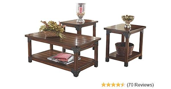 Superbe Amazon.com: Ashley Furniture Signature Design   Murphy 3 Piece Occasional Table  Set, Medium Brown: Kitchen U0026 Dining