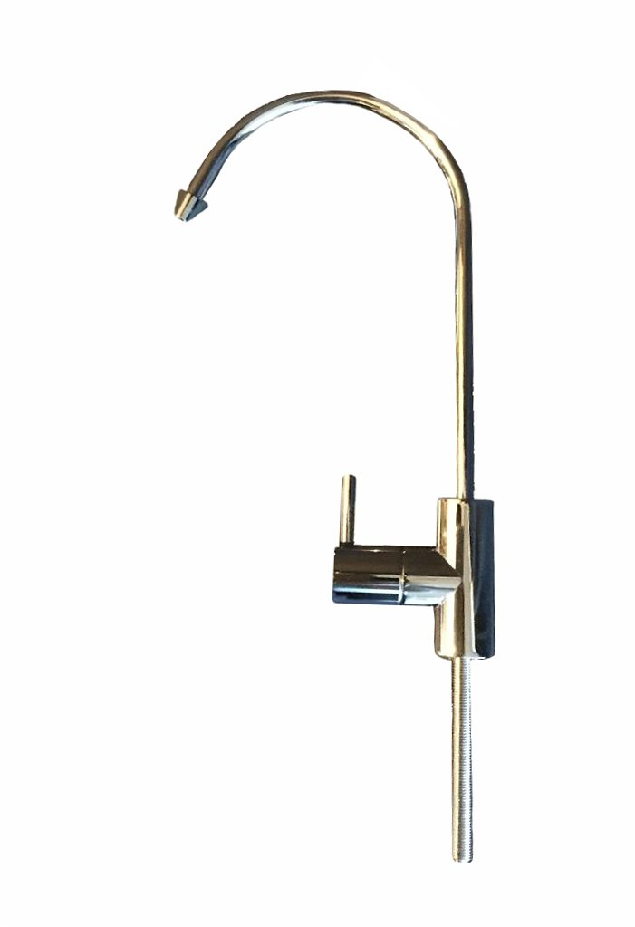 Proflo, FA-878-CP Water Faucet, Kitchen Faucet, Drinking Water Faucet, Water Purifier Faucet, Reverse Osmosis (RO) Faucet, 1/4'' Tube, Non Air Gap, 100% Lead Free, Stainless Steel