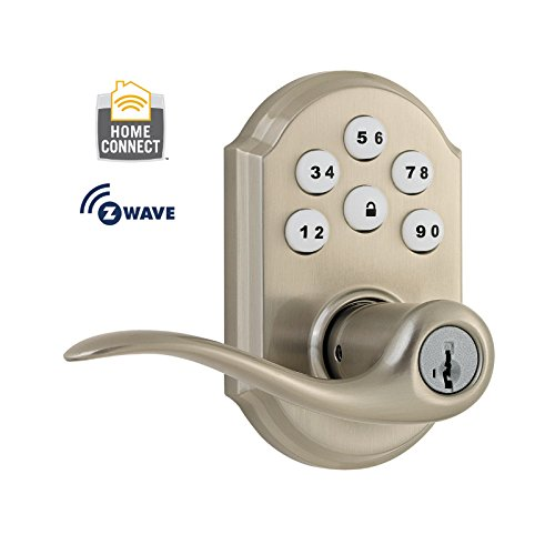 Kwikset 912 SmartCode Electronic Deadbolt w/Tustin Lever featuring SmartKey and Z-Wave in Satin Nickel Kwikset Corporation