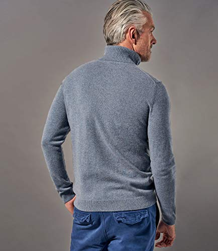 Pull Blue À Roulé Cachemire Pur Marl Wool Col Overs Homme Aw8Pq5C
