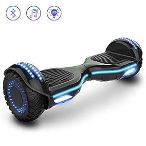 Double Hunter Self Balance Hoverboard 6.5 E-Star, Auto Balance Patinete Eléctrico, Ruedas LED Luces, Altavoz Bluetooth, Motor 700W, Modelo ES09