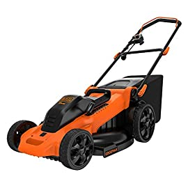 Black & Decker Power Tools Electric Push Mower 64 Dimensions: 34.87L x 21.87W x 16.81H in. 7-setting height adjustments Carrying handles for easy transportation and storage