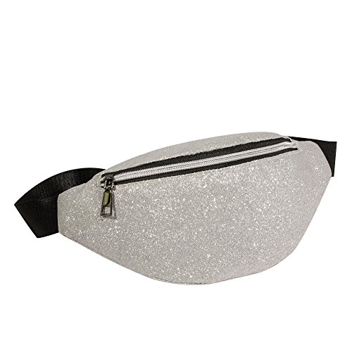 Danhjin Men Women Fashion Zipper Closure Bling Sequins Shoulder Phone Bag Messenger Bag Chest Bag by Danhjin (Image #3)