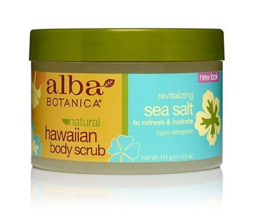 Alba Botanica Natural Hawaiian Body Scrub Sea salt, 14.5 oz (2 - Hawaiian Alba Body Scrub