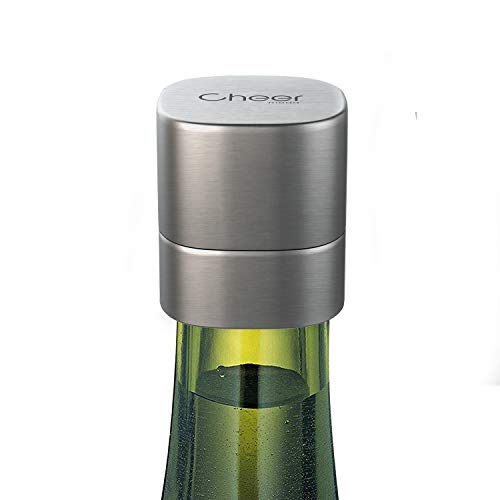 - Champagne Stopper, Stainless Steel Wine & Champagne Sealer, Resealable Leak-Proof Cap For Prosecco, Sparkling & Still Wine- Best Accessory, Home and Party Use 7717-W401-02