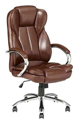 Captivating High Back PU Leather Executive Office Desk Task Computer Chair W/Metal Base  O18R
