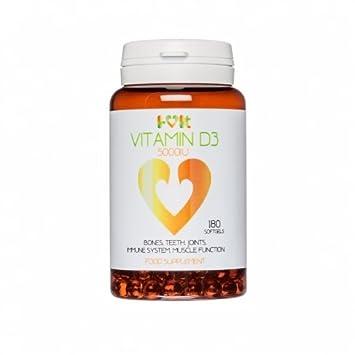 Vitamin D3 5000 IU - 180 softgels - i-vit: Amazon.es: Salud y cuidado personal