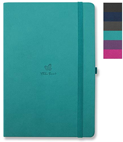 (YRL Best | A5 Hardcover Notebook/Journal with Pen Holder, College Ruled/Lined, Medium Size, 5.7x8.3