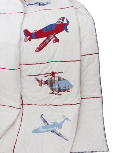 Aviation Aeroplanes and Helicopters Double Quilt Babyface