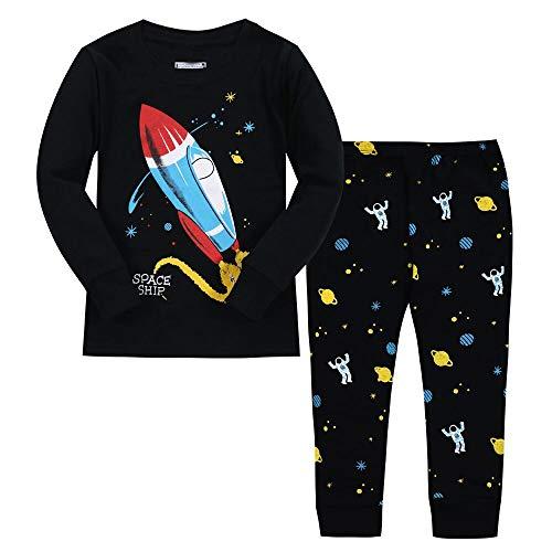 f5aec7dc8809 Boys Pajamas Dinosaur 100% Cotton 2 Piece Kids Sleepwear Toddler ...