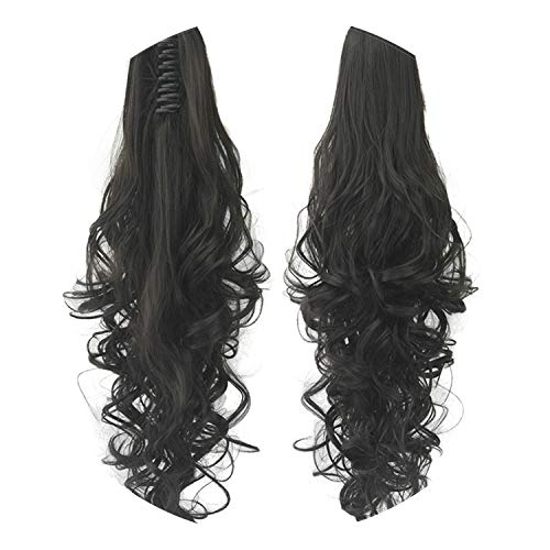 Pony tail Hair Extension Claw Clip In Drawstring False Wave Hairpiece 24 inch 60cm -