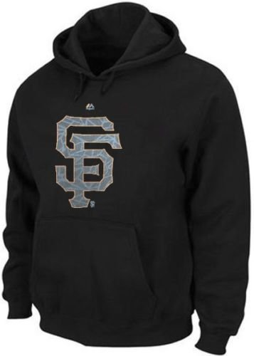 Majestic San Francisco Giants Black Camouflage Logo Hoodie Men Big & Tall Sizes (MT)