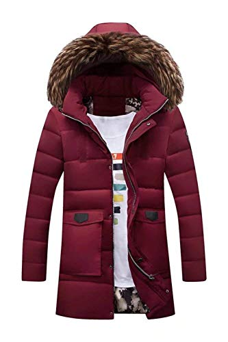 Collo Winter Uomo Da Imbott Jacket Coat Cappuccio Winered Heavyweight Adelina Puffer Rimovibile 4wqzzZ