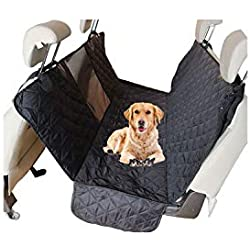 Pet-Carriers Portable Pet Dog Cat Car Rear Back Seat Carrier Cover Waterproof Mat Blanket Hammock Cushion Protector Quilted Non-Slip,No Pockets,147Cmx137Cm