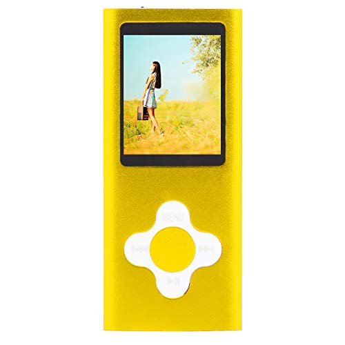 (Portable MP3 MP4 Player Music Media 16GB FM Radio Video Player with 1.8inch LCD Screen (Color : Yellow))