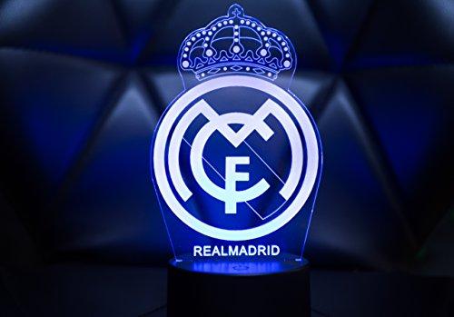 Oficial Escudo del Real Madrid CF Lámpara original accesorios de 2017- 2018 y mejor regalo para bebe niño kids hombre mujer Mejor decoracion para hogar: ...