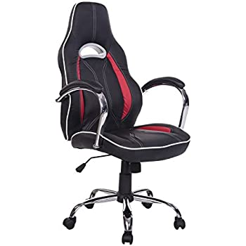 HomCom Race Car Style PU Leather Gaming   Office Chair   RedAmazon com  Best Choice Products Executive Racing Office Chair PU  . Office Racer Chair. Home Design Ideas