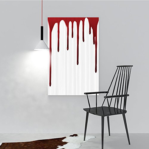 (Philip C. Williams Paintings of Decorative Frameless Flowing Blood Horror Spooky Halloween Zombie Crime Scary Help me Themed Restaurant Bedroom Painting W16 x)