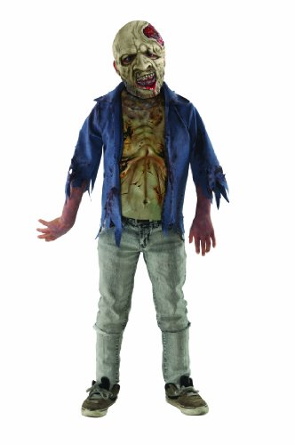 The Walking Dead Deluxe Child's Decomposed Zombie Costume, Standard Color, Large]()