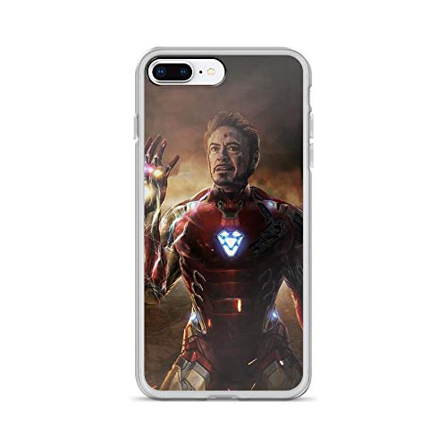 iPhone 7 Plus/8 Plus Pure Anti-Scratch Case I Am Iron-Man Infinity Stone Snap Tony-Stark Stan Lee Avengerss Movie Shield Comic Superhero