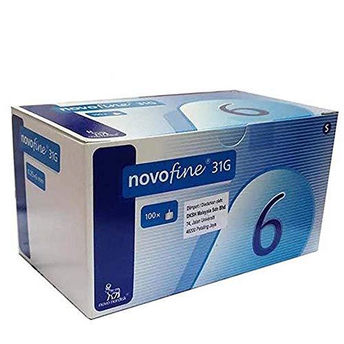 Novofine 6mm x 31g 100ct Novo nordisk