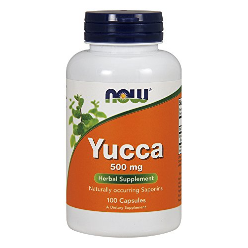 Powder Yucca Root (NOW Yucca 500 mg,100 Capsules)