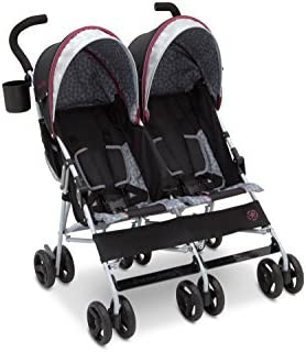Jeep Brand Scout Double Stroller (Lunar Burgundy)