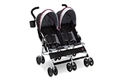 Epic family adventures are easy with the J is for Jeep Brand Scout Double Stroller from Delta Children. The stroller is finished with exclusive accents, including an extendable European-style canopy, reclining seat with multiple positions and...