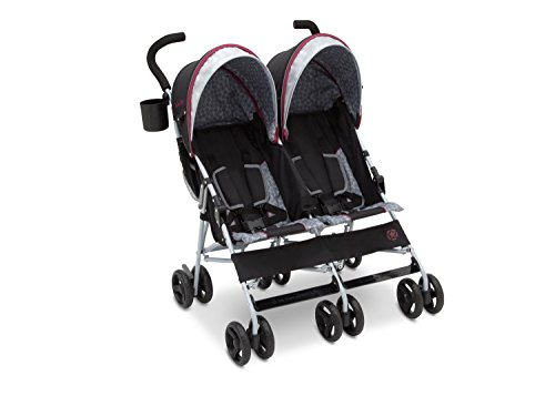 J is for Jeep Brand Scout Double Stroller, Lunar Burgundy